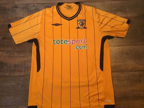 2009 2010 Hull City Home Football Shirt Large